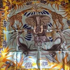 Gently used Hermès La Marche du Zambeze scarf